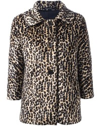 Brown Leopard Fur Jacket