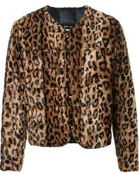 Dresscamp Leopard Print Fur Jacket