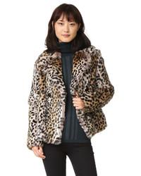 Meteo By Yves Salomon Rabbit Fur Leopard Jacket