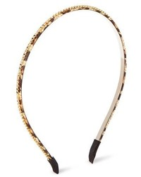 Capsule By Cara Skinny Crystal Headband Brown Animal Print