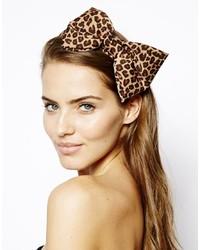 Johnny Loves Rosie Leopard Bow Headband