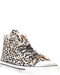 Dioniso Studded Leopard Print Hi Top