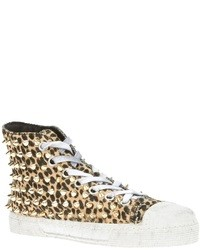 Gienchi Leopard Hi Top Sneakers