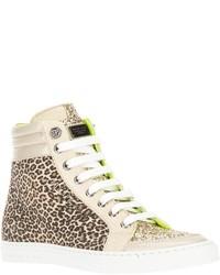 Philipp Plein Leopard Print Hi Top Sneaker