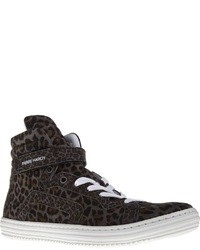 Pierre Hardy Leopard Print Hi Top Sneaker