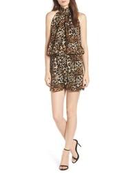 Brown Leopard Jumpsuit