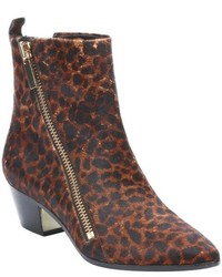 Rachel Zoe Leopard Print Calf Hair Rory Zip Ankle Boots