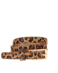 Asos Leopard Print Skinny Waist Belt