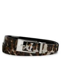 Liz Claiborne Reversible Patent Leather Leopard Print Belt Leopard