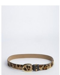 Streets Ahead Tan And Brown Leopard Print Calfhair And Leather Belt