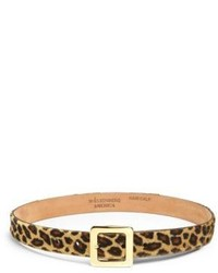 W kleinberg leopard print calf hair belt medium 197134