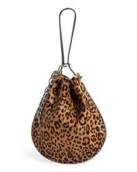Alexander Wang Roxy Leather Genuine Calf Hair Bucket Bag