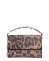 Christian Louboutin Loubiblues Leopard Print Calfskin Leather Clutch