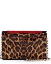 Christian Louboutin Vanite Small Leopard Print Clutch Bag