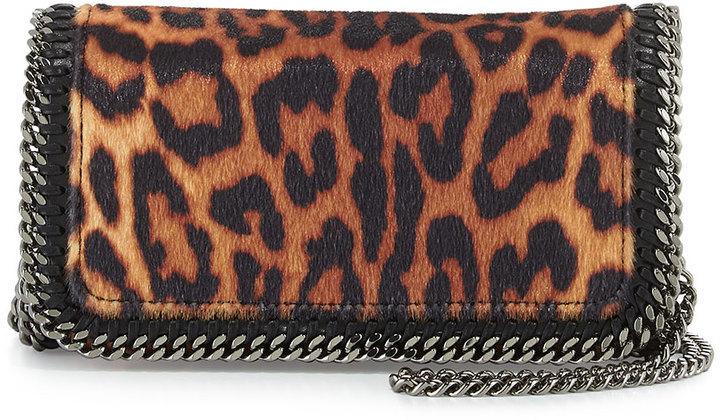 bd54a3adec0c ... Stella McCartney Falabella Leopard Print Crossbody Bag Taupe ...