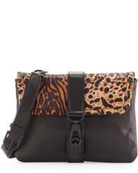 Rachel Zoe Goldie Leopard Print Flap Crossbody Bag Leopard