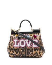 Dolce & Gabbana Leopard Print Sicily Bag