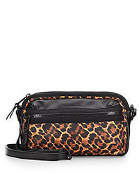 Piper faux leather trim leopard print crossbody medium 339951