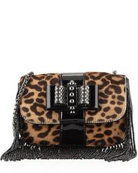Sweet charity mini fringe crossbody bag leopard medium 339949