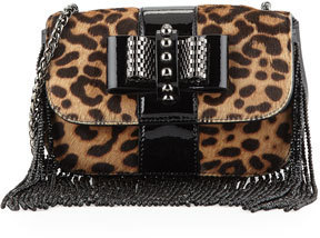 fd9c3613a7 ... Christian Louboutin Sweet Charity Mini Fringe Crossbody Bag Leopard ...