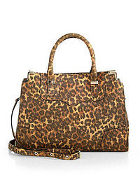 Leopard printed amorous satchel medium 52856