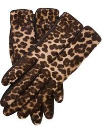 Lanvin leopard print gloves medium 115629