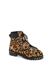 Topshop Animal Genuine Calf Hair Studded Boot