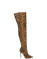 Versace Leopard Over The Knee Boots