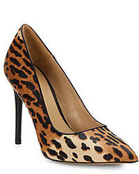 Bonita leopard print calf hair pumps medium 84084