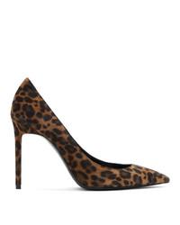 Saint Laurent Brown Leopard Anja Heels
