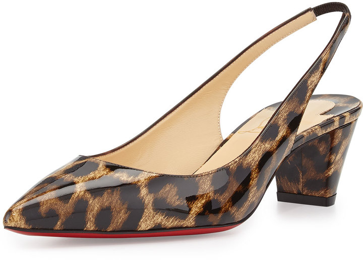 christian louboutin mens white sneakers - Christian Louboutin Karelli Leopard Print Low Heel Red Sole ...