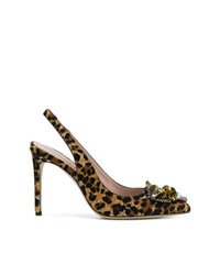 Embellished leopard print pumps medium 7341520