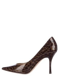 Jimmy Choo Leopard Printed Lockett Pumps