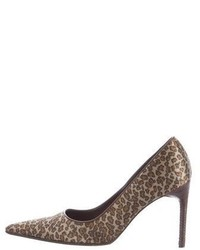 Bottega Veneta Satin Leopard Print Pumps