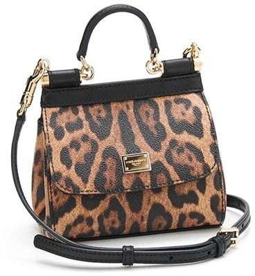 5000715f7a47 ... Bags Dolce   Gabbana Dolcegabbana Mini Miss Sicily Leopard Print Leather  Satchel ...