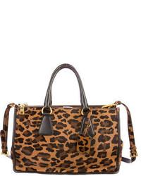 Prada Leopard Ponyhair Satchel