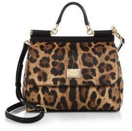 f70805991ee ... Leather Satchel Bags Dolce & Gabbana Medium Miss Sicily Leopard Print  Top Handle Satchel ...