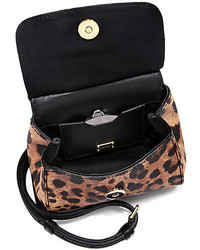 6e7b22f5d1 ... Dolce   Gabbana Sicily Micro Leopard Print Textured Leather Top Handle  Satchel ...