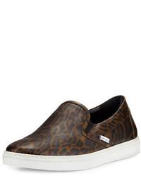 Grove leopard print slip on sneaker medium 699756