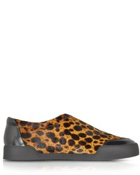 3.1 Phillip Lim Morgan Animal Print Haircalf Low Top Sneaker