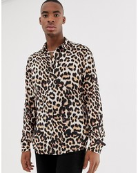 Brown Leopard Long Sleeve Shirt