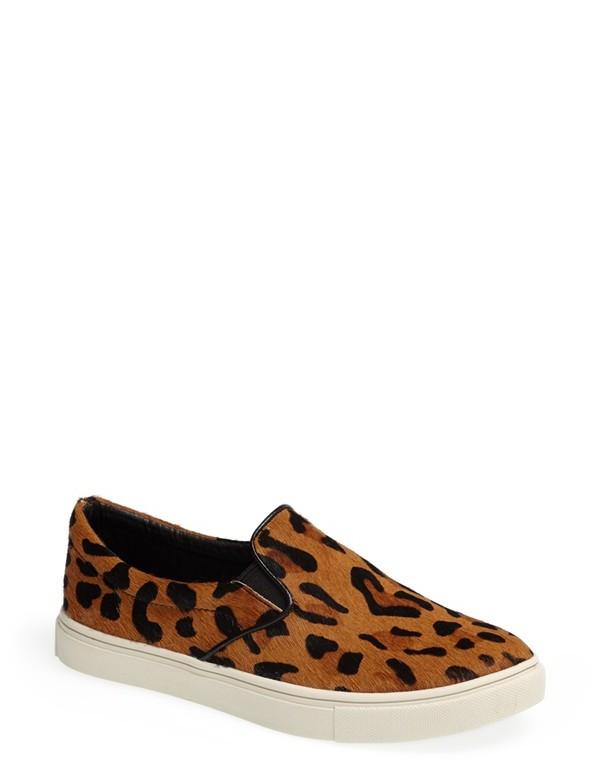 451d25d2805 ... Leopard Low Top Sneakers Steve Madden Ecentric Pony Hair Flat ...