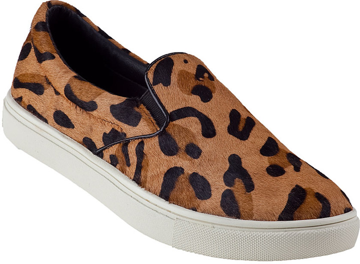 39410717ae07 ... Leopard Low Top Sneakers Steve Madden Ecentric Slip On Sneaker  Blackwhite Hair Calf ...