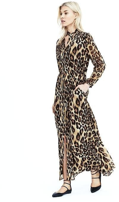 Banana Republic Leopard Maxi Dress | Where to buy & how to wear