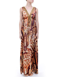 Terani prom dazzling beaded illusion neck polyester a line gown 1712p2456 medium 320924