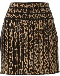 Brown Leopard Mini Skirt