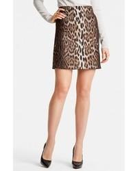 Lanvin Short Leopard Jacquard Skirt