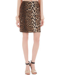 Lanvin Leopard Jacquard Pencil Skirt