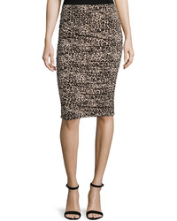 Leopard print pencil skirt rich black medium 366442
