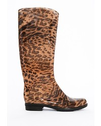 Missguided Kat Leopard Print Wellie